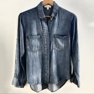 Anthro |  Denim Tencel Shirt